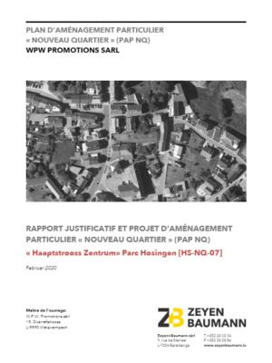 PAP Haaptstrooss-Beim Puttes_Rapport justificatif et Partie écrite