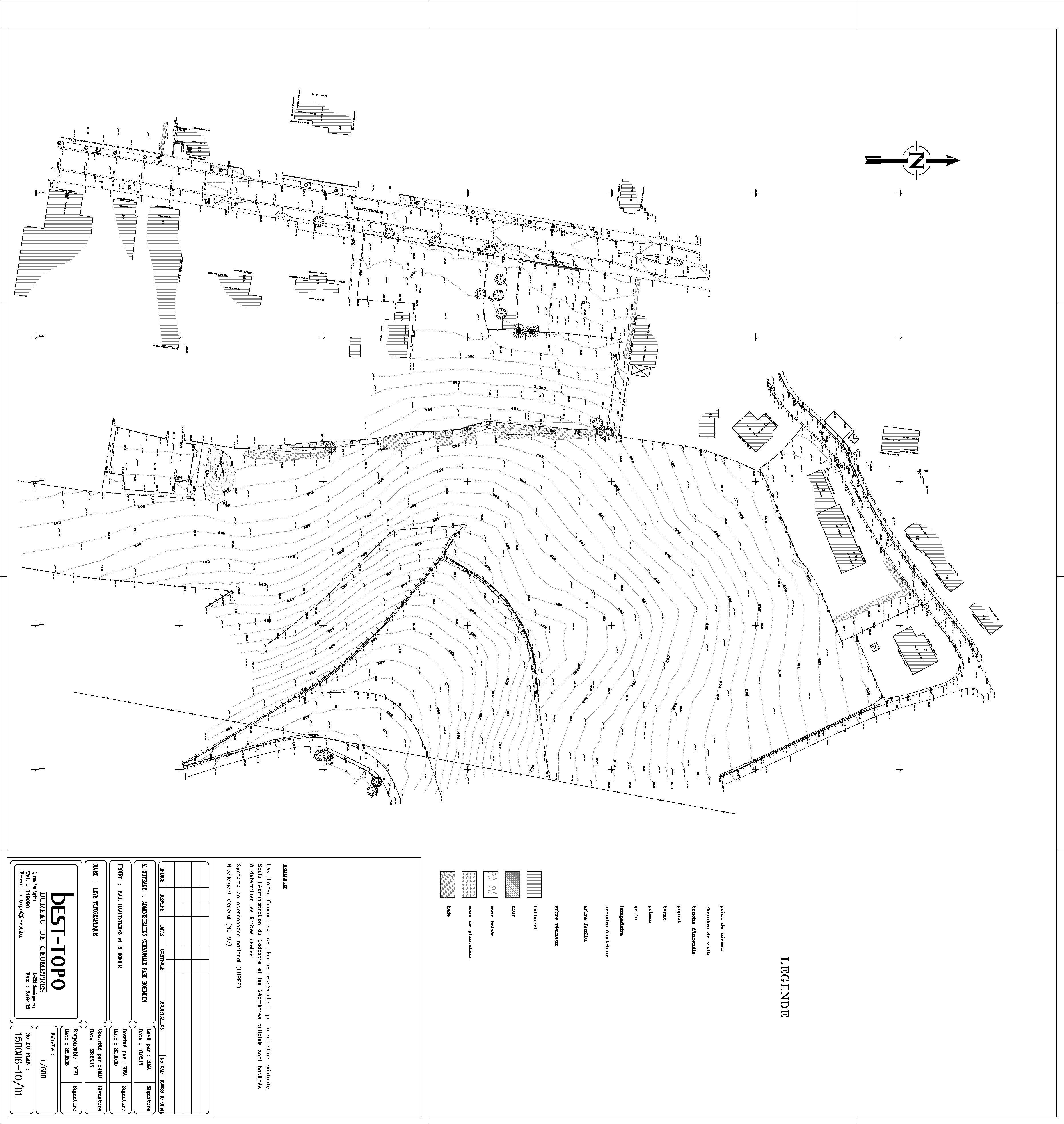 PAP Hoscheid-Dickt - Levé topographique Haaptstrooss et Ro'debour