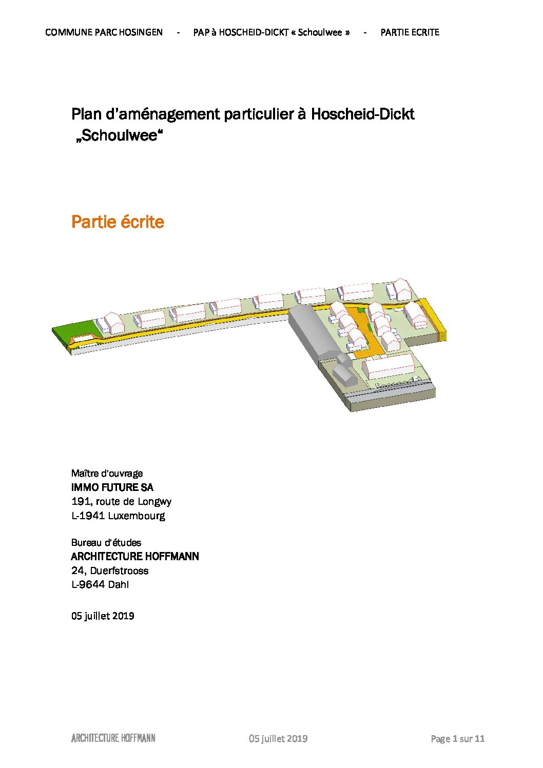 PAP Schoulwee Hoscheid-Dickt partie écrite
