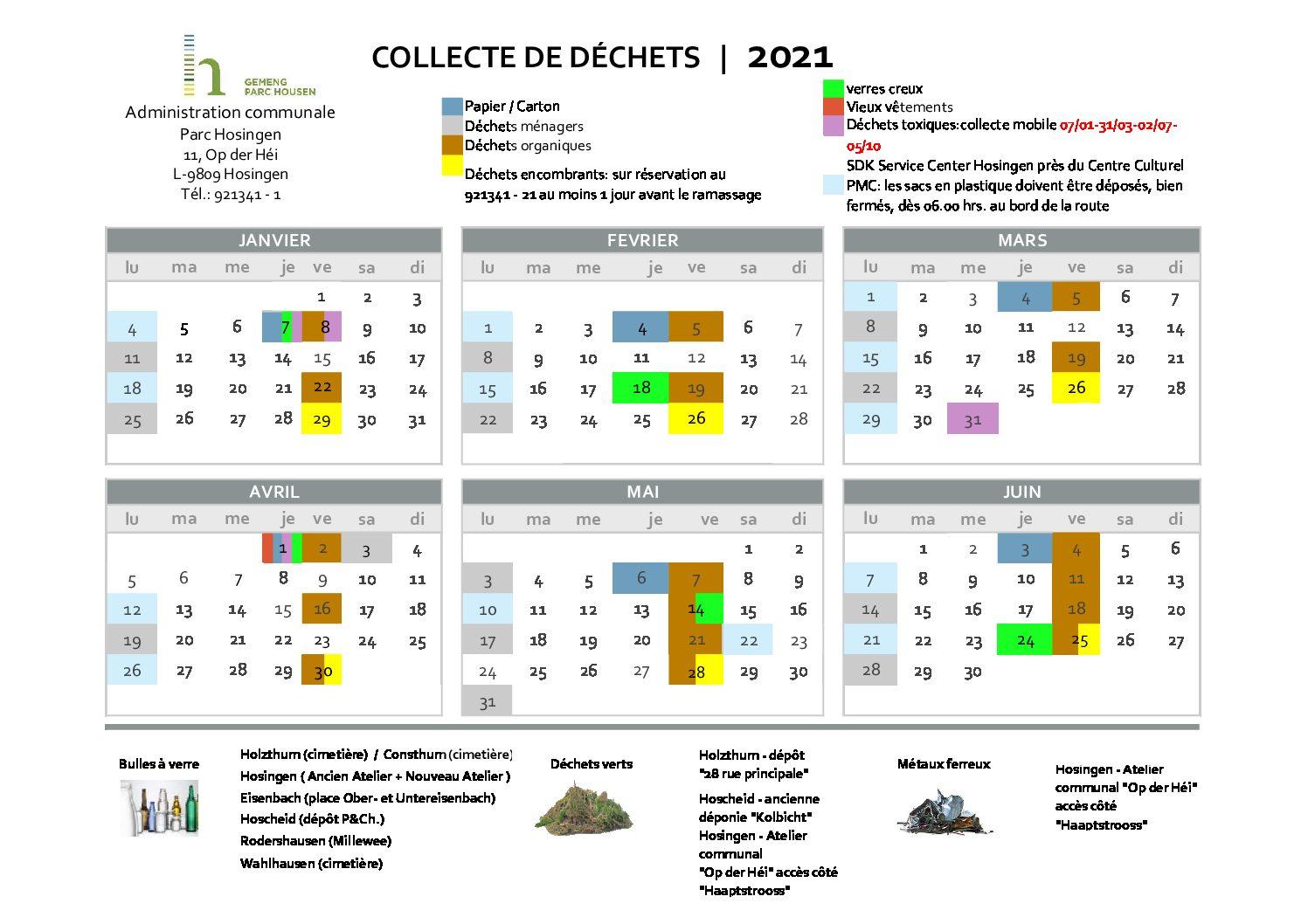 Collecte de déchets 2021