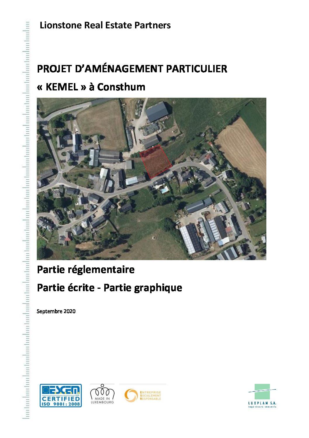 PAP Kemel Consthum - Partie écrite