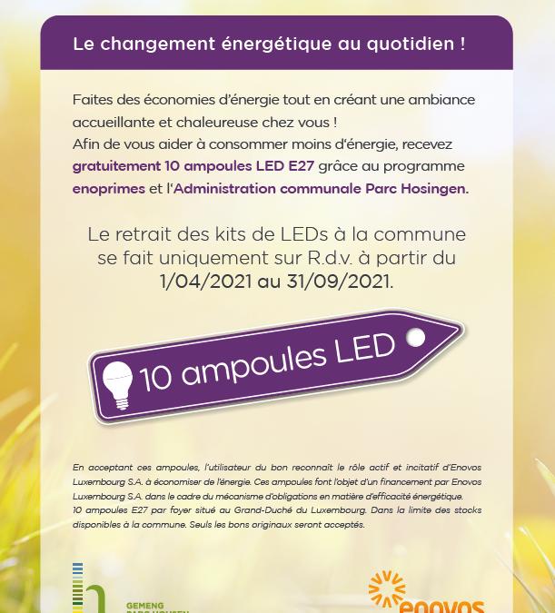 Enoprimes – Distribution gratuite de LED