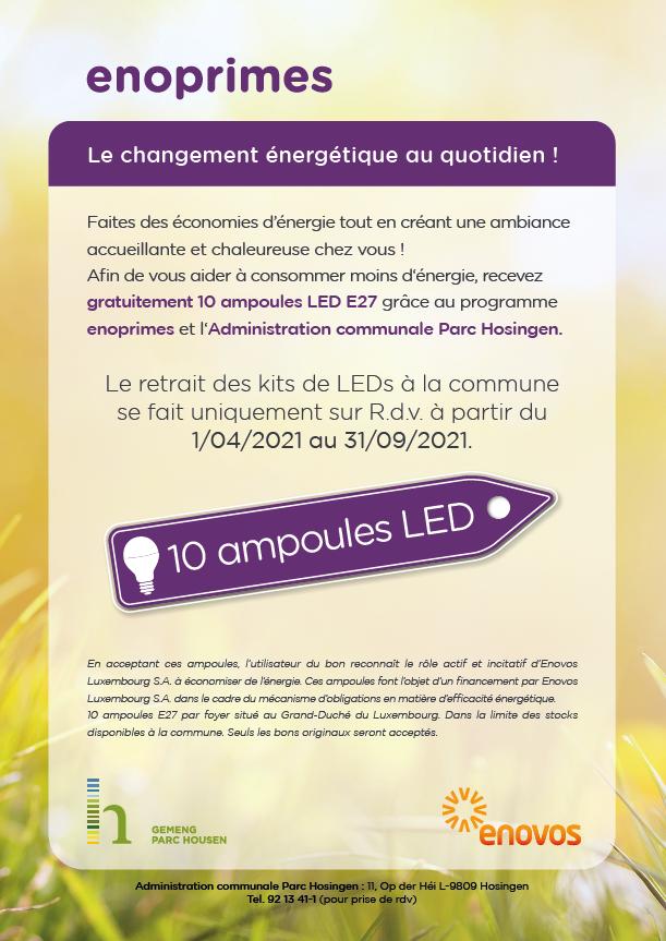 Enoprimes - Distribution gratuite de LED