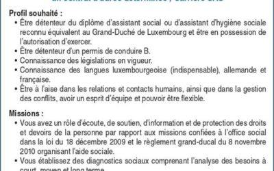 RESONORD – Poste vacant : un assistant social ou assistant d'hygiène sociale (m/f)