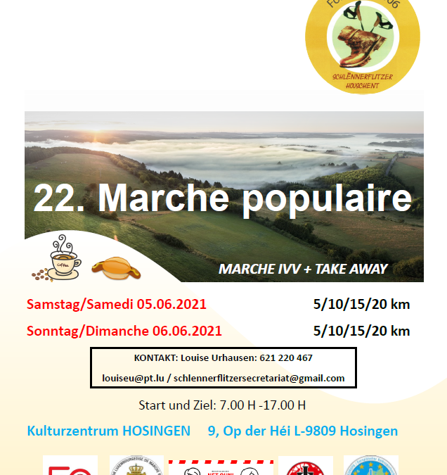 IVV Marche 2021 Schlënnerflitzer Houschent
