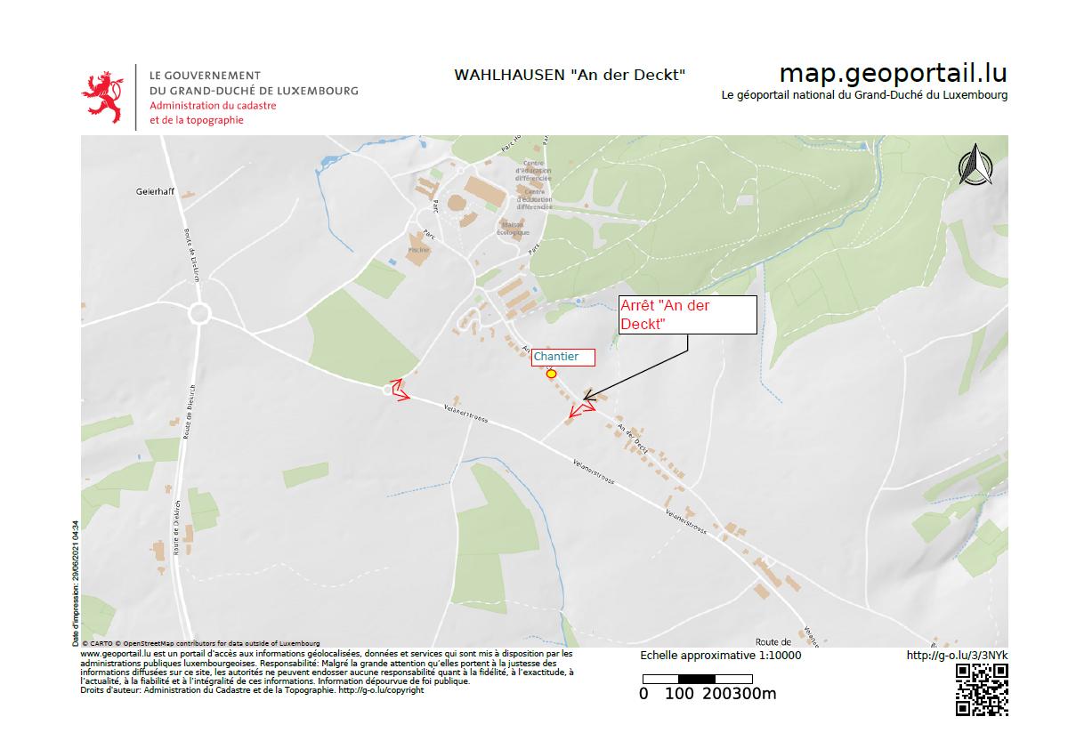 Chantier avec route barrée à Wahlhausen le 01/07/2021 de 07.00 à 17.00 heures